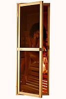"""Двери для бани и сауны (модель """"Reliable"""") 678х1880, 14мм стекло"""