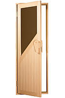 """Двери для бани и сауны (модель """"Авангард"""") 700*1900, 14мм стекло"""