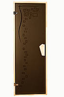 """Двери для бани и сауны (модель """"График"""") 678х1880, 8мм стекло"""