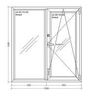 Окно металлопластиковое Veka WHS72