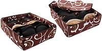 Органайзер для белья Коробочка на 7 секции с крышкой коричневый