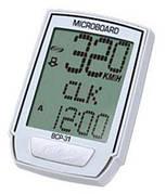Велокомпьютер BBB BCP-31W MicroBoard, 8 функций, беспроводной, белый