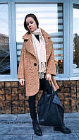 Пальто утепленное стиля оверсайз букле
