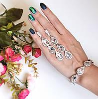 Комплект украшений браслет и серьги Essia белый, набор украшений