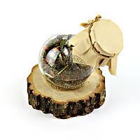 """Травяной чай для бани """"Фруктовый"""", на деревяной подставке, колба 500 мл"""
