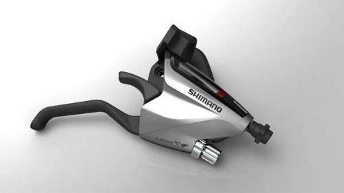 Тормозная ручка/шифтер Shimano Altus ST-EF65 правый, EZ-FIRE PLUS, 7-зв +тросик, серебр, фото 2