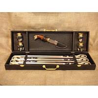 Гранд-набор в подарок мужчине (шампура, нож, чарки)