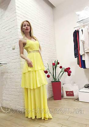 Брендовое женское вечернее платье  длинное Италия , фото 2