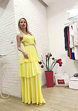 Брендовое женское вечернее платье  длинное Италия