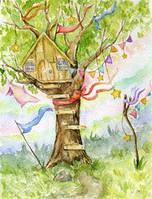 """Почтовая открытка """"Домик на дереве"""""""