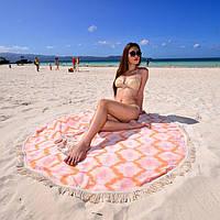 Полотенце пляжное круглое Ripple Peachy Begonvillе