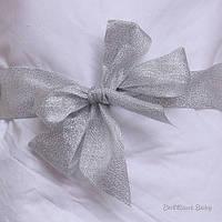 Лента для одеяла на выписку (серебро)