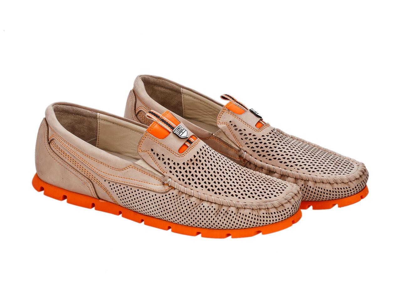 Мокасини Etor 14211-16654-743 бежевий+помаранчевий