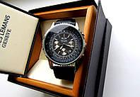 Часы мужские наручные Breitling черное серебро, часы недорого