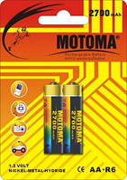 Аккумуляторы Motoma - Rechargeable Battery AA HR6 Ni-MH 2700mAh 1.2V 2/20/200шт