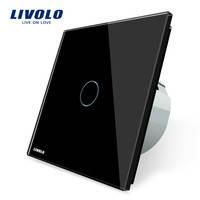 Выключатель Livolo C701-11, черный цвет