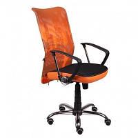 Кресло Аэро HB сиденье Сетка черная, боковины Zeus 045 Orange, спинка Сетка оранж-Skyline (AMF-ТМ)