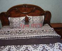 Комплект постельного БЯЗЬ оптом и в розницу, Турецкий мотив коричевый 0979