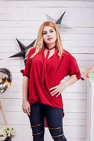 Женская блуза - туника с протяжками и стразами