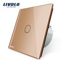 Выключатель Livolo  C701-11, золотой цвет