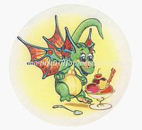 Вафельные картинки — Новый год Драконы №1 — 18,7 см