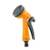 Пистолет для полива огорода 7209, 5 режимов полива, пластик, orange/green, радиус опрыскивания 8 м