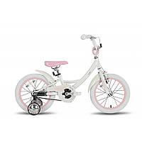 """Велосипед 16"""" PRIDE KELLY бело-розовый глянцевый 2016"""