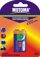Аккумуляторы Motoma - Rechargeable Battery Крона Ni-MH 220mAh 9V 1/20/200шт