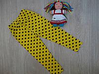 """Лосины """"Горошек"""" трикотажные для девочки желтые р.1-8 лет"""