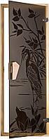 """Двери для бани и сауны (модель """"Цапли"""") 678х1880, 8мм стекло"""