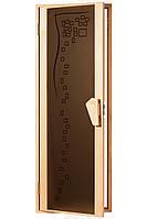 """Двери для бани и сауны (модель """"Комфорт"""" 2050*800), 6мм стекло"""