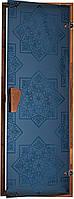 """Двери для хаммам (модель """"Сезам"""" 1900*700 голуб.), 8мм стекло"""