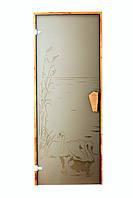 """Двери для хаммам (модель """"Лебедь"""") 678*1880, 8мм стекло"""