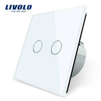 Выключатель Livolo VL-C702-11  2 канала, белый