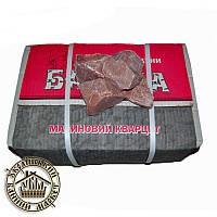"""Камень """"Малиновый кварцит"""" колотый 50-70 мм (20 кг)"""