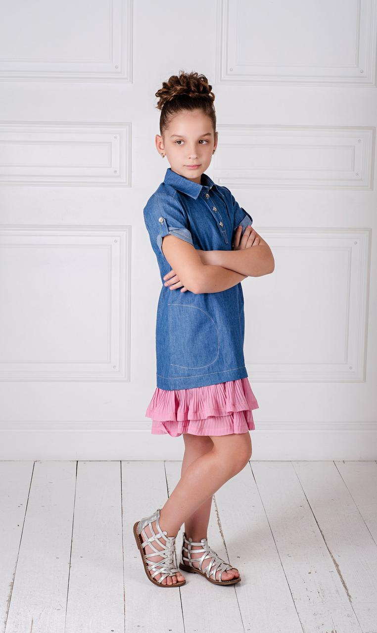4c10f100f6c5e7c Детское джинсовое летнее платье, платье выполнено из качественного ...