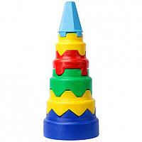 "Игра развивающая чудисам пл010 пирамида ""геометрия"" (42см)"
