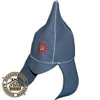 """""""Буденовка"""", шапка для бани и сауны (шерсть)"""