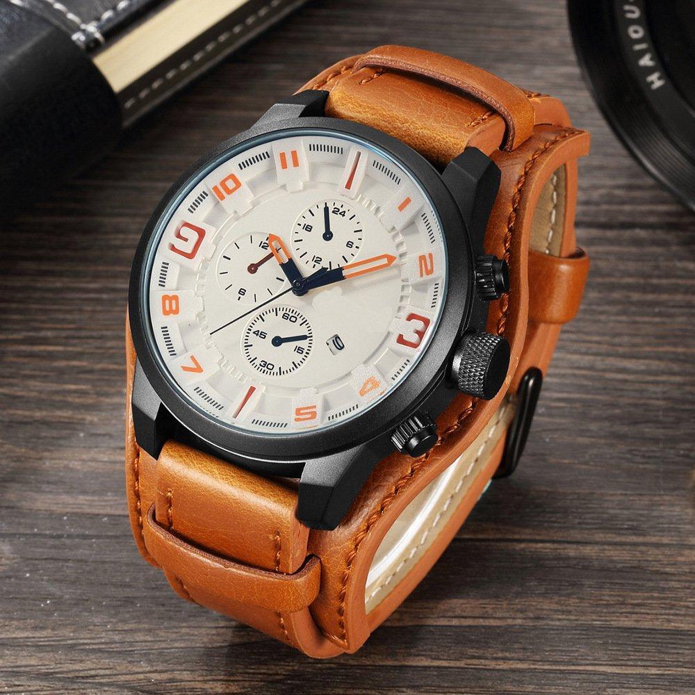 Часы мужские Curren Aviator brown-white