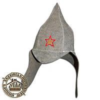 """""""Буденовка"""", шапка для бани (эконом)"""