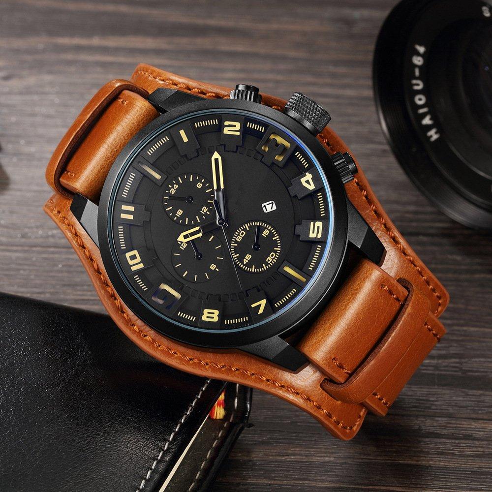 Часы мужские Curren Aviator brown-black