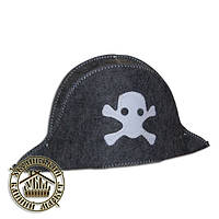 """""""Пират"""", шапка для бани (полушерсть)"""