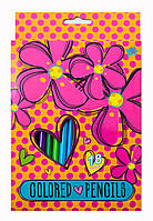 Карандаши 18 цв. Flowers 290356
