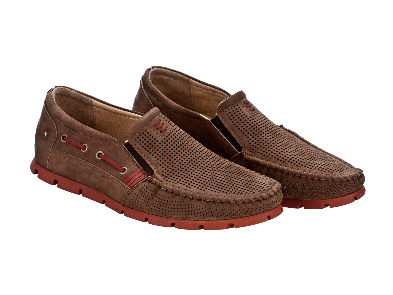 Мокасины Etor 13631-16654-88278 коричневые