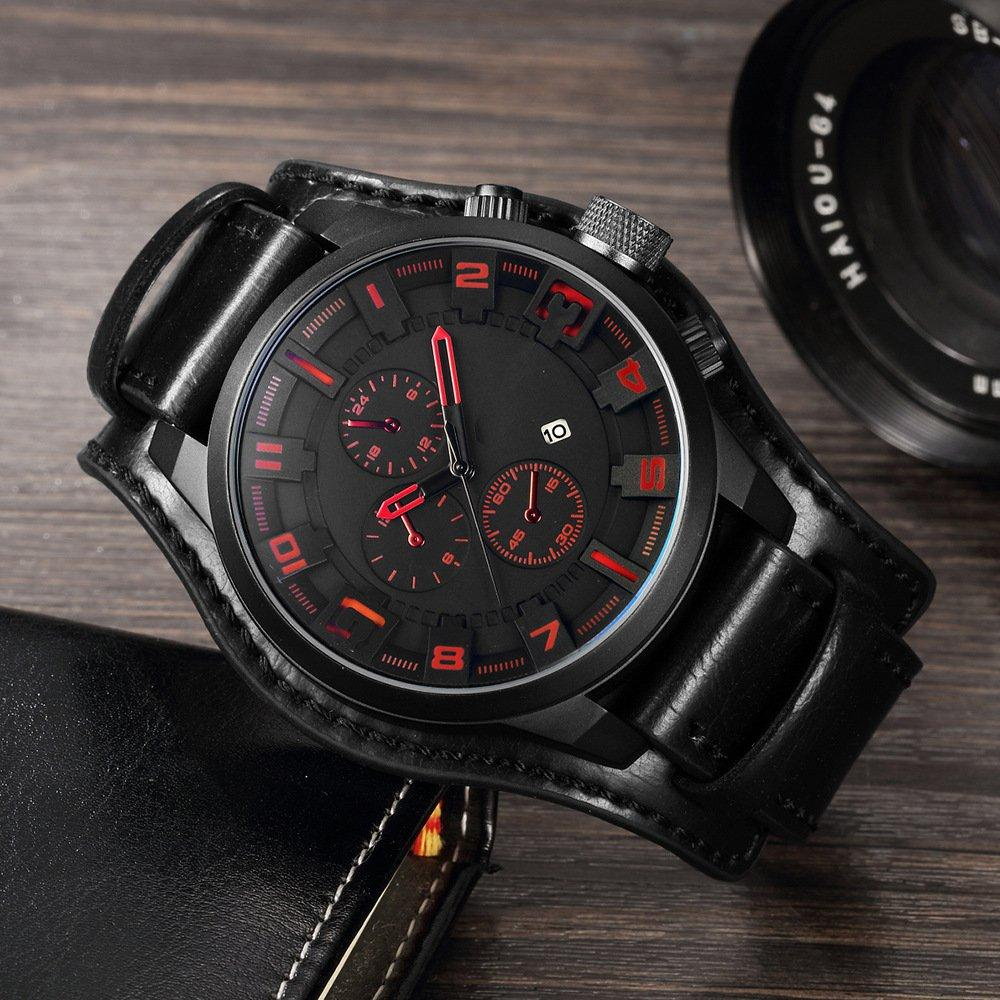 Часы мужские Curren Aviator black-red