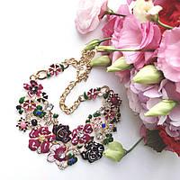 Колье женское Florina бордо эмаль, магазин бижутерии
