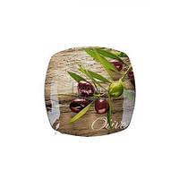 "Блюдо квадратное Viva Olive Tree 10"" S350010B-Q077"