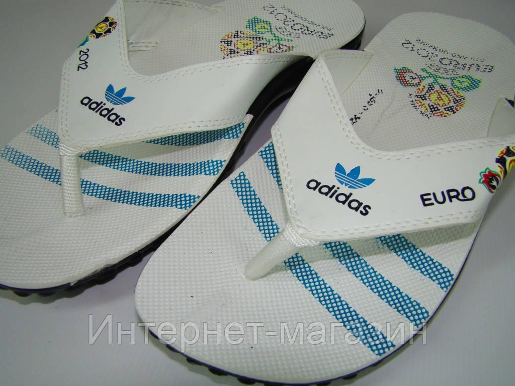 Вьетнамки мужские Adidas (40-45р) код 7016 цвет синий