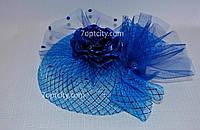 Шляпка - вуалетка детская разные цвета V-4