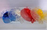 Шляпка - вуалетка детская разные цвета V-1